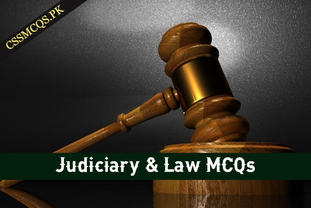 _Judiciary & Law MCQs